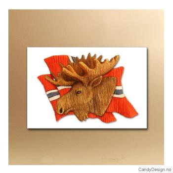 Norske flagg i vinden suvenir metallmagnet