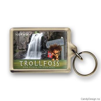 Trollfoss suvenir nøkkelring