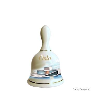 Store suvenir bjeller med Oslo motiv  Operahuset