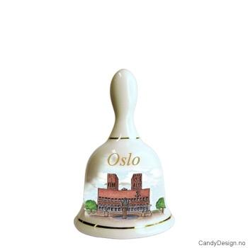 Store suvenir bjeller med Oslo motiv  Rådhuset