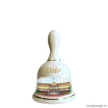 Store suvenir bjeller med Oslo motiv  Slottet