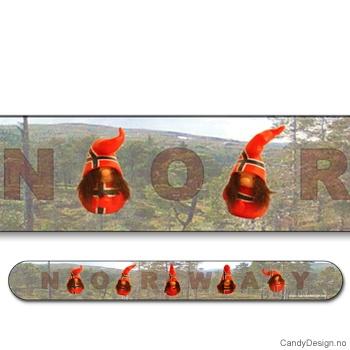 Suvenir neglefil  Nisser med Norsk flagg og Norway