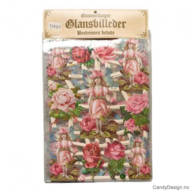 Glansbilder - Blomster uten glitter