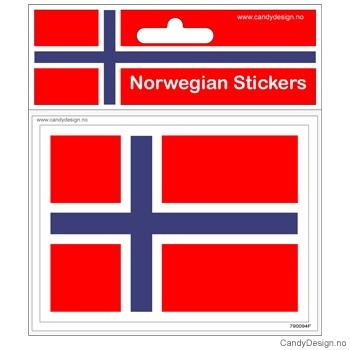Suvenir klistremerke med det Norske flagg