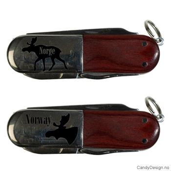 Lommekniver med elg motiver assortert