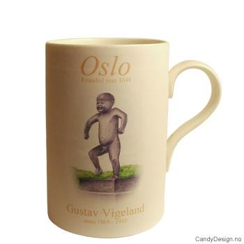 Oslo kopp med Sinnataggen inspirert av Gustav Vigeland