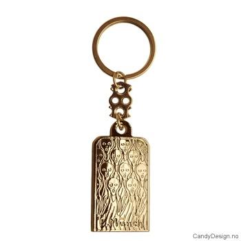 Edvard Munch Skrik metall nøkkelringer 12 stk.