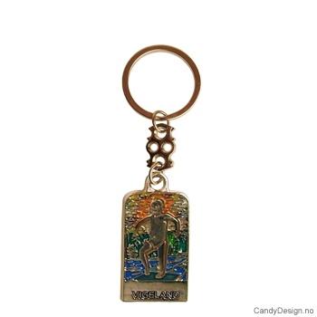 Gustav Vigeland metall nøkkelringer i farger 12 stk.