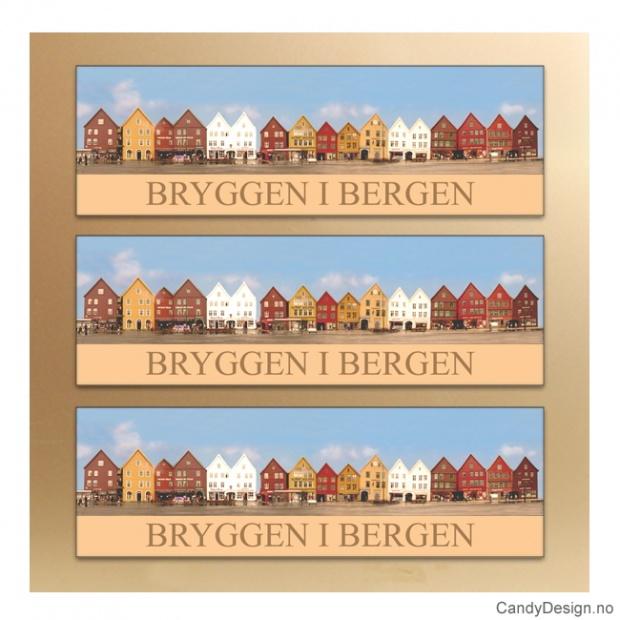 Bryggen i Bergen metallmagneter